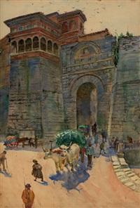 porta romana in perugia by karl langhammer