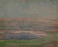 küste in lilatönen (+ küstenlandschaft; 2 works) by friedrich lissmann