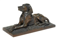 model of a dog by alfred barye
