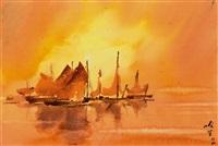 金色的港湾 (golden harbor) by ha ding