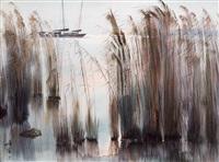太湖晨曦 (reed forest anchorage) by ha ding