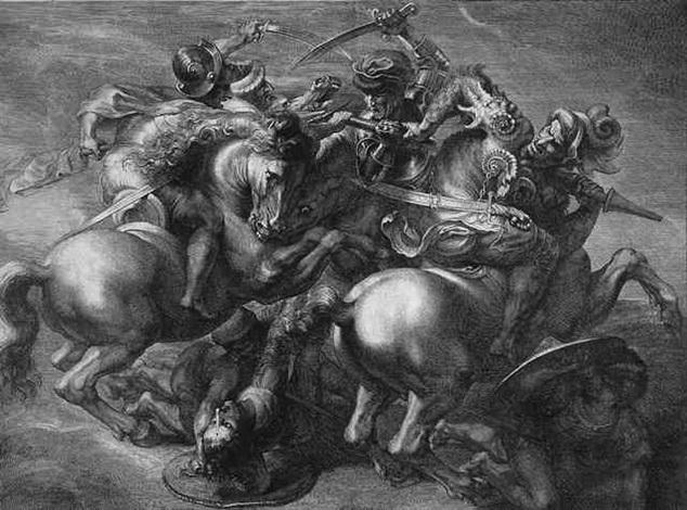 die reiterschlacht die schlacht von cascina by gérard edelinck