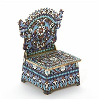 russian throne-shaped salt cellar by nikolai alekseev
