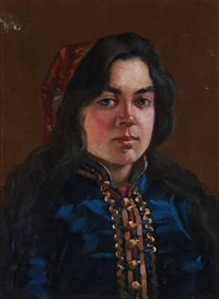 portrait of a russian woman wearing a tatar costume by ivan kuzmich fyodorov