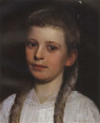 a portrait of a young girl by william j. mccloskey