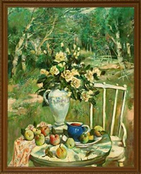 still life in a garden by oleg gurenkov