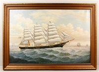 ship iroquois; albert v. nickels, master, searsport, me. built at bath by percy a. sanborn