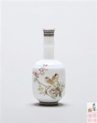 双鹌图 (birds and flowers) by xu yafeng