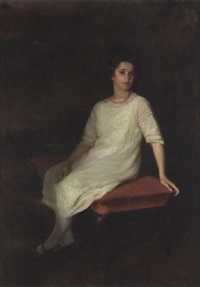 a portrait of katherine mackay at age 12 by lydia field emmet