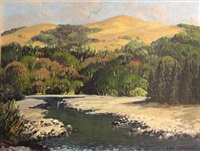 mattole river and moore hill near petrolia, california by carl sammons