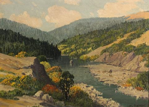 eel river humbolt county california by carl sammons