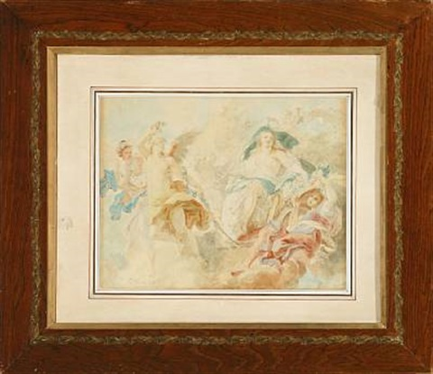 the triumph of venus sketch for a plafond by konstantin egorovich makovsky