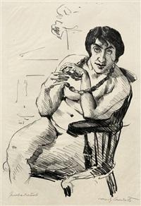 weiblicher akt mit halskette im lehnsessel by lovis corinth
