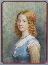 florentine girl by jennie augusta brownscombe