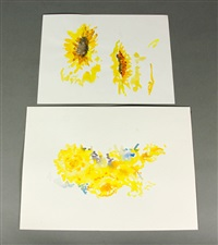 abstract floral (2 works) by lamar (william) dodd