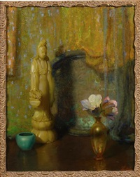 still life with an asian theme by theodore n. lukits