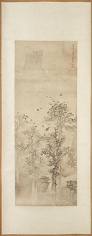 crows in wintery trees, 1645 by xiang shengmo