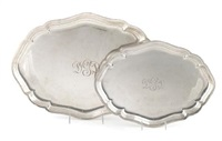 graduated cartouche-form trays (set of 2) by meriden brittania (co.)