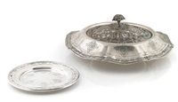a louis xiv center bowl together with matching small plate (set of 2) by towle silver