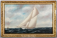sloop under sail by william pierce stubbs