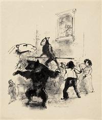 illustrationen zu hauff, der affe als mensch (10 works) by josef hegenbarth