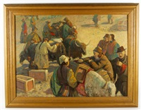 market scene by francis helps