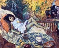 沙发上的女孩 by du yongqiao