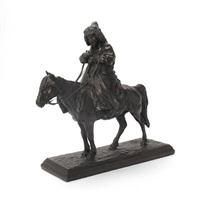 a cossak on horseback by artemi lavrentievich ober