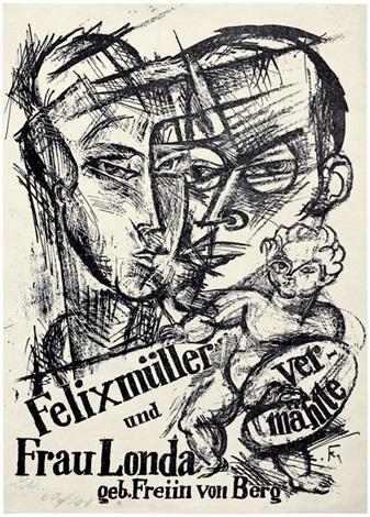 felixmüller und frau londa vermählte 2 others 3 works by conrad felixmüller