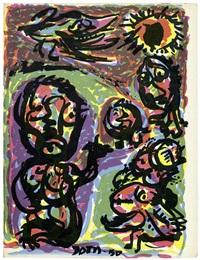 artistes libres. première série du bibliothèque de cobra (15 works) by cobra group