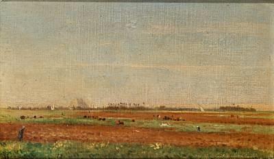 harvest landscape by ivan pavlovich pokhitonov
