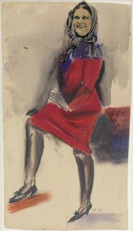 Die dame im roten kleid