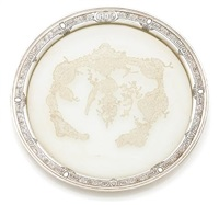 a circular tray by goldman silversmiths (co.)