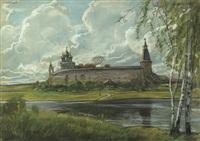 russische landschaft im frühling by ilya glazunov