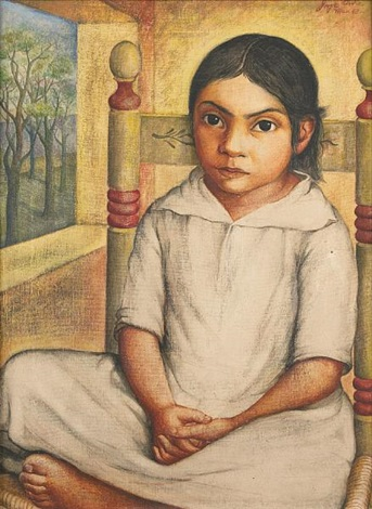 young girl seated by jorge arche