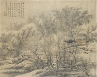 landscape (after wang hui) by ming jian