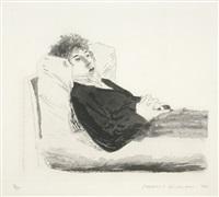 reclining figure by david hockney