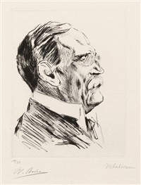 portrait geheimer rat bode (2 works) by max liebermann