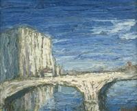 pont blanc (weiße brücke) by holmead (clifford holmead phillips)