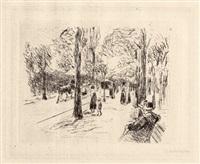 strasse im tiergarten by max liebermann
