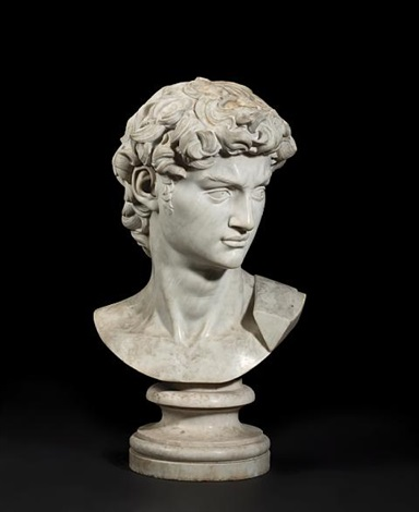 a bust of david by michelangelo