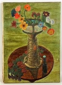 floral still life by bernard chaet
