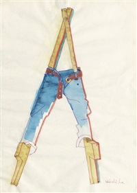 stelzen in jeans by k.h. hödicke