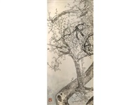 plum blossoms (4 works) by xu zihe