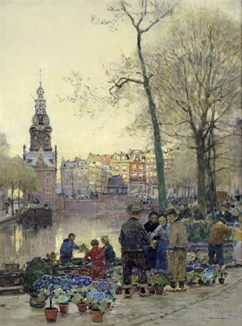 blumenmarkt in amsterdam by hans herrmann
