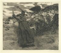 losbruch, pl. 5 (from bauernkrieg) by käthe kollwitz