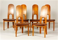 modern dining chairs (set of 6 works) by koefoeds-hornslet