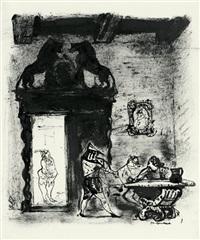 illustration zu wilhelm hauff die sage vom hirschgulden by josef hegenbarth