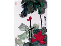 the masterworks of chang dai-chien (6 works) by zhang daqian