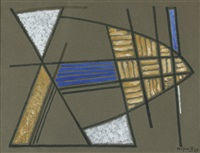 abstrakte komposition by alberto magnelli